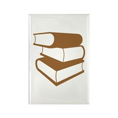 Stack Of Brown Books Rectangle Magnet (100 pack)
