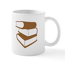 Stack Of Brown Books Mug