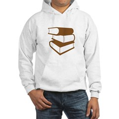 Stack Of Brown Books Hoodie