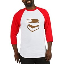 Stack Of Brown Books Baseball Jersey