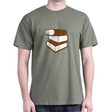 Stack Of Brown Books T-Shirt