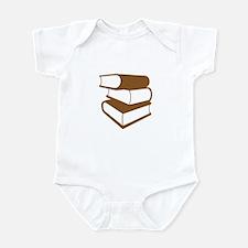 Stack Of Brown Books Infant Bodysuit