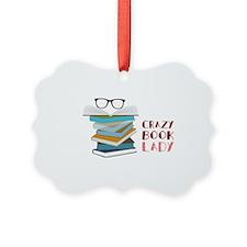 Crazy Book Lady Ornament