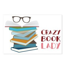 Crazy Book Lady Postcards (Package of 8)