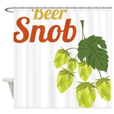Beer Snob Shower Curtain