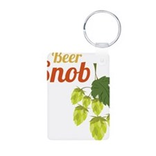 Beer Snob Aluminum Photo Keychain