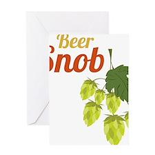Beer Snob Greeting Card