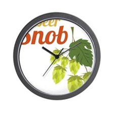 Beer Snob Wall Clock
