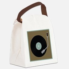 Record Player Canvas Lunch Bag