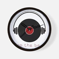 Drop The Beat Wall Clock