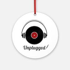 Unplugged Round Ornament
