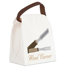 Wood Carver Canvas Lunch Bag