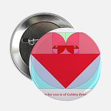 "Golden Ratio heart 2.25"" Button"