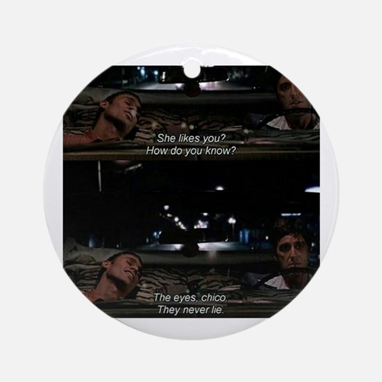 Funny Scarface Round Ornament