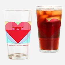 Golden Ratio heart Drinking Glass