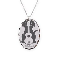 Dog Jake Uke Necklace Oval Charm