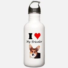 I Love My Tricolor Water Bottle