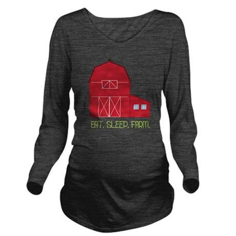 Eat Sleep Farm Long Sleeve Maternity T-Shirt