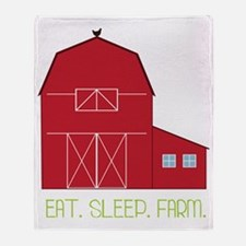 Eat Sleep Farm Throw Blanket