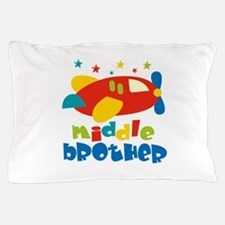 Middle Brother Plane Stars Pillow Case