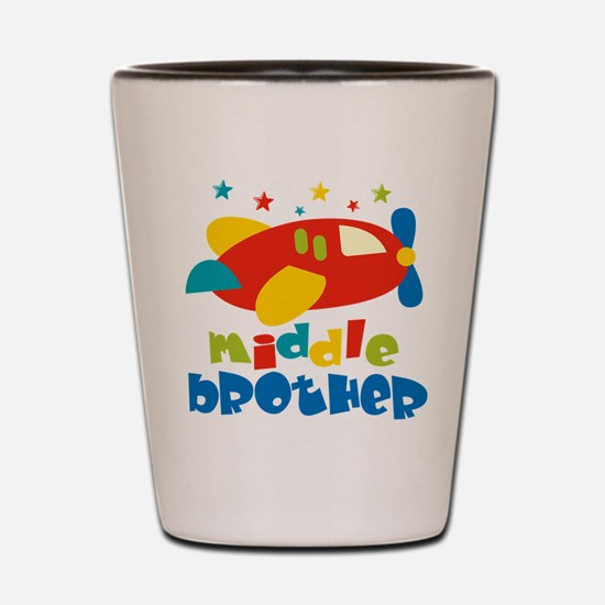 Middle Brother Plane Stars Shot Glass