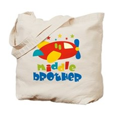 Middle Brother Plane Stars Tote Bag