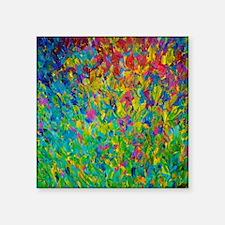 """Rainbow Fields Square Sticker 3"""" x 3"""""""