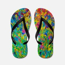 Rainbow Fields Flip Flops