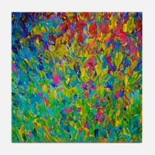 Rainbow Fields Tile Coaster