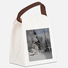 Square Locker Frame Canvas Lunch Bag