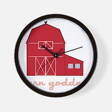 Barn Goddess Wall Clock