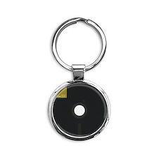 I have a 8 inch floppy disk Round Keychain