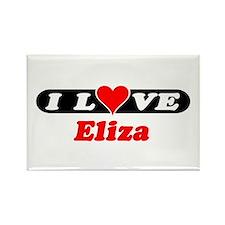 I Love Eliza Rectangle Magnet