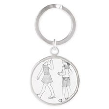 Like a bird, time flies when youre  Round Keychain