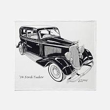 '34 Ford Tudor Throw Blanket