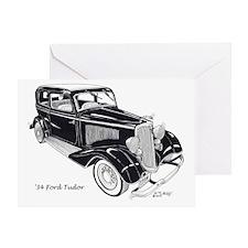 '34 Ford Tudor Greeting Card
