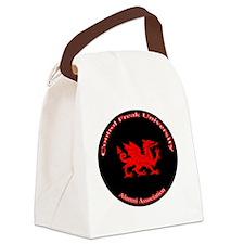 CFU-BlackDragonSeal Canvas Lunch Bag