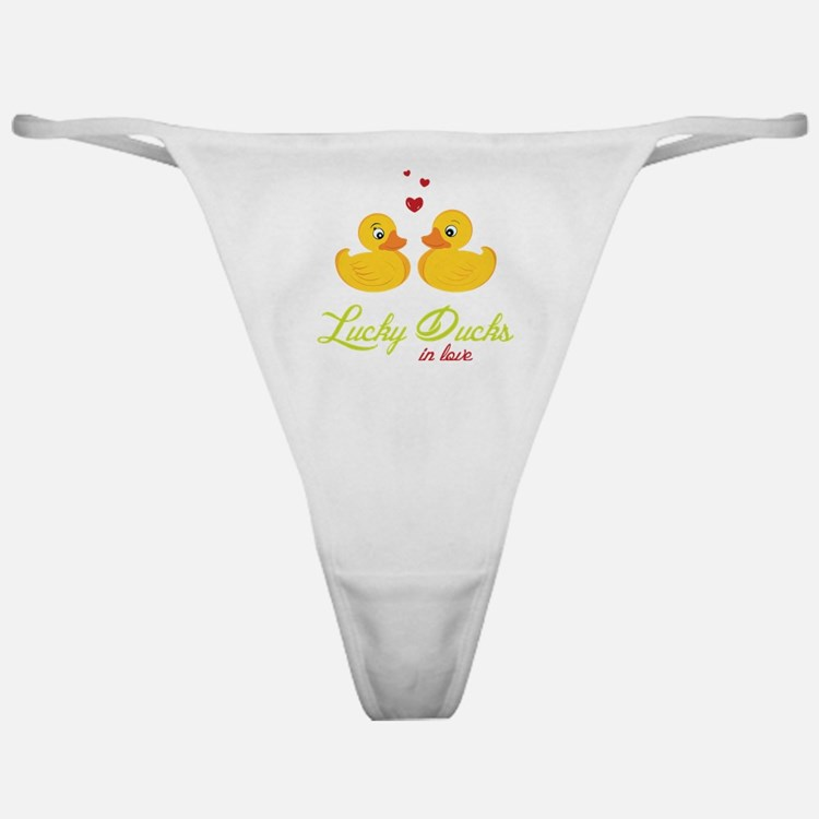Lucky Ducks In Love Classic Thong