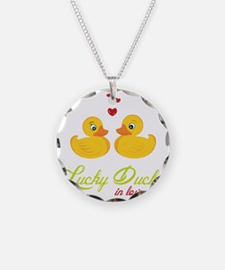 Lucky Ducks In Love Necklace