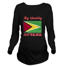 My Identity Guyana Long Sleeve Maternity T-Shirt