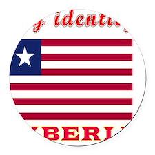 My Identity Liberia Round Car Magnet
