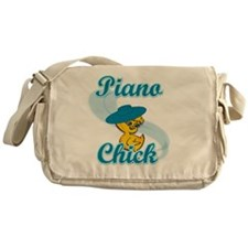 Piano Chick #3 Messenger Bag