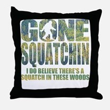 Gone Squatchin *Special Deep Forest E Throw Pillow