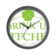 Saint Patricks Day Drinking Wall Clock