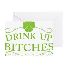 Saint Patricks Day Drinking Greeting Card