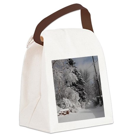 Small Leather Notepad Canvas Lunch Bag