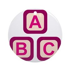 ABC Blocks Round Ornament