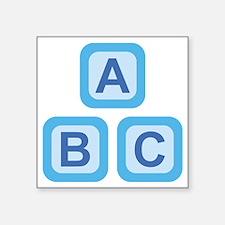 "ABC Blocks Square Sticker 3"" x 3"""