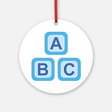 ABC Blocks Round Ornament