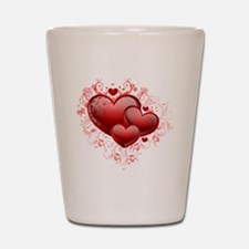 Floral Hearts Shot Glass